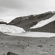 Taylor Glacier and Rhone Glacier on right