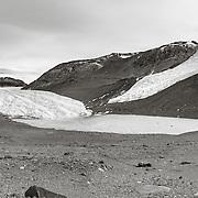 Taylor Glacier and Rhone Glacier on right