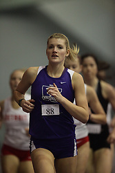 London, Ontario ---10-01-23---  Laura Desjardins of the Western Mustangs competes at the 2010 Don Wright Team Challenge in London, Ontario, January 23, 2010..GEOFF ROBINS Mundo Sport Images