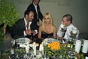 TOM FORD; DONATELLA VERSACE; JONATHAN NEWHOUSE, Luomo Vogue 40th Anniversary dinner. Palazzo Litta. Milan. 22 June 2008 *** Local Caption *** -DO NOT ARCHIVE-© Copyright Photograph by Dafydd Jones. 248 Clapham Rd. London SW9 0PZ. Tel 0207 820 0771. www.dafjones.com.