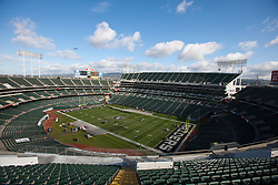 Nov 6, 2011; Oakland, CA, USA; General view of O.co Coliseum before the game between the Oakland Raiders and the Denver Broncos. Mandatory Credit: Jason O. Watson-US PRESSWIRE