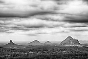 Glasshouse Mountains on Queensland's Sunshine Coast.