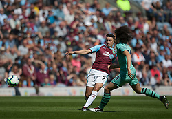 Matthew Lowton of Burnley (L) in action - Mandatory by-line: Jack Phillips/JMP - 12/05/2019 - FOOTBALL - Turf Moor - Burnley, England - Burnley v Arsenal - English Premier League