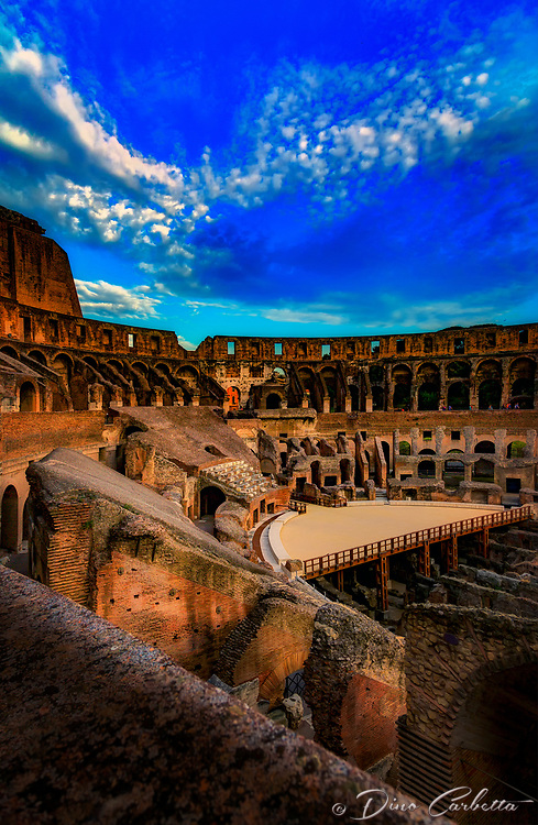 """A perfect evening overlooking the Colosseum""…<br />