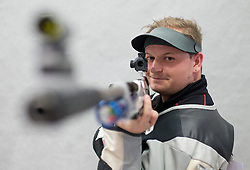 19.03.2016, Arena Kufstein, Kufstein, AUT, Österreichische Meisterschaften für Luftdruckwaffen, Herren, im Bild Alexander Schmirl (AUT) // Alexander Schmirl of Austria during the Austrian Mens Championships for airguns at Arena Kufstein in Kufstein, Austria on 2016/03/19. EXPA Pictures © 2016, PhotoCredit: EXPA/ Johann Groder