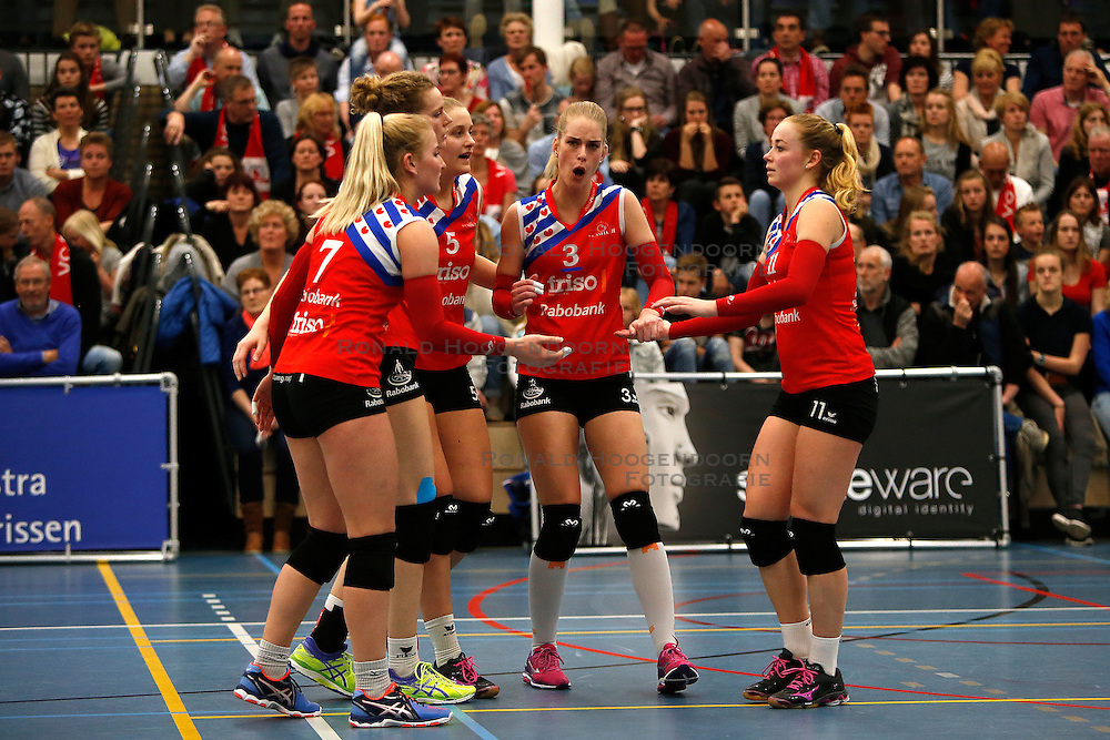 SNEEK , 24-04-2016 , Sneker Sporthal, volleybal , seizoen 2015 - 2016 , VC Sneek is landskampioen 2016 na een 3-0 overwinning in de play-offs tegen Set Up 65. <br /> <br /> foto: Henk Jan Dijks