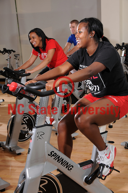 Students get a good work out in Carmichael Gym.