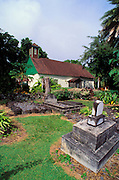 Congregational church and cemetery where Charles Lindbergh is buried, Kipahulu, Island of Maui, Hawaii