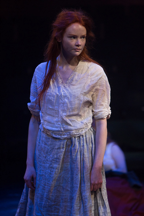 Royal Exchange Theatre production of Scuttlers by Rona Munro. Directed by Wils Wilson. Cast: Caitriona Ennis, Chloe Harris, David Judge, Anna Krippa, Rona Morison, Tachia Newall, Dan Parr, Bryan Parry, Kieran Urquhart.