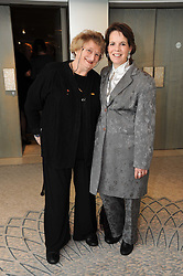 Left to right, actress BELLA EMBERG and actress LYNNE MILLER at the Lady Taverners Tribute Lunch in honour of Nicholas Parsons held at The Dorchester, Park Lane, London on 20th November 2009.
