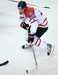 Jonathan Toews at ice-hockey match Canada vs Latvia (with replika jerseys from year 1936) at Preliminary Round (group B) of IIHF WC 2008 in Halifax, on May 04, 2008 in Metro Center, Halifax, Nova Scotia, Canada. (Photo by Vid Ponikvar / Sportal Images)