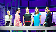Pedro Almodovar's<br /> Women on the Verge of a nervous breakdown The Musical <br /> at the Playhouse Theatre, London, Great Britain <br /> press photocall<br /> 23rd December 2014 <br /> <br /> Seline Hizli as Marisa <br /> Haydn Gwynne as Lucia <br /> Tamsin Greig as Pepa <br /> Anna Skellern as Candela <br /> Willemijn Verkaik as Paulina <br /> <br /> <br /> <br /> Photograph by Elliott Franks <br /> Image licensed to Elliott Franks Photography Services