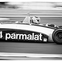 #4, Brabham BT49C (1981), Joaquin Folch-Rusinol (ES), Silverstone Classic 2015, FIA Masters Historic Formula One. 25.07.2015. Silverstone, England, U.K.  Silverstone Classic 2015.