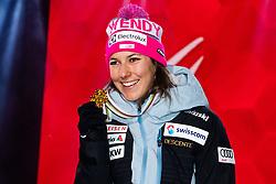 February 8, 2019 - …Re, SWEDEN - 190208 Wendy Holdener of Switzerland celebrates at the medal ceremony for the women's combination during the FIS Alpine World Ski Championships on February 8, 2019 in Ã…re  (Credit Image: © Daniel Stiller/Bildbyran via ZUMA Press)