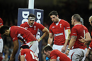 Wales players inc Sam Warburton & Alex Cuthbert © show their dejection after New Zealand score a try. Dove Men autumn international series, Wales v New Zealand at the Millennium stadium in Cardiff , South Wales on Saturday 24th November 2012. pic by Andrew Orchard, Andrew Orchard sports photography,