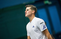 04.04.2014, Aegon Arena, Bratislava, SVK, ITF, Davis Cup, Slowakei vs Oesterreich, 2. Runde, Europa-Afrika-Zone I, im Bild Dominic Thiem (AUT) // Dominic Thiem (AUT) during the 2nd round of Europe Africa zone one of ITF Davis Cup between Slovakia and Austria at the Aegon Arena in Bratislava, Slovakia on 2014/04/04. EXPA Pictures © 2014, PhotoCredit: EXPA/ Michael Gruber