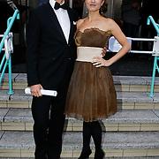 NLD/Utrecht/20101001 - NFF 2010 - Gouden Kalveren 2010 uitreiking, Thomas van Luyn en Daphne Bunskoek