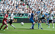 (L-R) Legia's goalkeeper Dusan Kuciak & Legia's Inaki Astiz Ventura & Legia's Jakub Wawrzyniak & Lech's Kasper Hamalainen & Legia's Artur Jedrzejczyk during T-Mobile Extraleague soccer match between Legia Warsaw and Lech Poznan at Pepsi Arena in Warsaw, Poland...Poland, Warsaw, May 18, 2013..Picture also available in RAW (NEF) or TIFF format on special request...For editorial use only. Any commercial or promotional use requires permission...Photo by © Adam Nurkiewicz / Mediasport