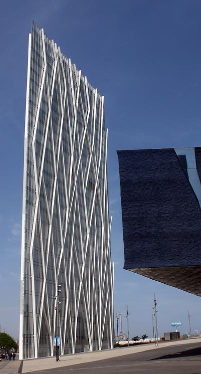 Glass Skyscraper in Barcelona. Spain 2013