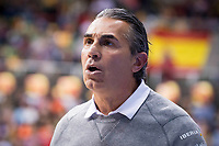 Spain coach Sergio Scariolo during FIBA European Qualifiers to World Cup 2019 between Spain and Slovenia at Coliseum Burgos in Madrid, Spain. November 26, 2017. (ALTERPHOTOS/Borja B.Hojas)
