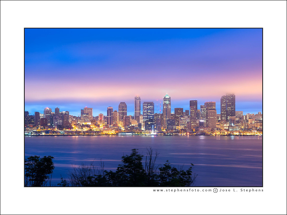 Downtown Seattle at dawn, Washington State, USA