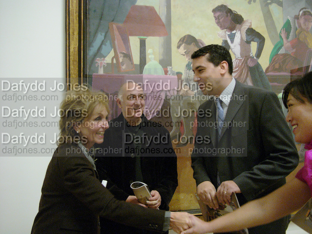 Paula Rego, Soao Penalva and  Miguel Santos. Paula Rego exhibition opening, Tate Britain, 27 October 2004.  ONE TIME USE ONLY - DO NOT ARCHIVE  © Copyright Photograph by Dafydd Jones 66 Stockwell Park Rd. London SW9 0DA Tel 020 7733 0108 www.dafjones.com