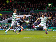 Dundee's Greg Stewart misses  a first minute chance - Celtic v Dundee, SPFL Premiership at Celtic Park<br /> <br />  - &copy; David Young - www.davidyoungphoto.co.uk - email: davidyoungphoto@gmail.com