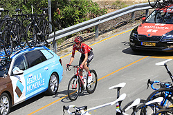 The peloton including Martijn Tusveld (NED) Team Sunweb amongst the team cars on the Cat 2 climb to Puerto de Confrides during Stage 2 of La Vuelta 2019 running 199.6km from Benidorm to Calpe, Spain. 25th August 2019.<br /> Picture: Eoin Clarke | Cyclefile<br /> <br /> All photos usage must carry mandatory copyright credit (© Cyclefile | Eoin Clarke)