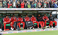 Fotball<br /> Tyskland<br /> 21.04.2012<br /> Foto: Witters/Digitalsport<br /> NORWAY ONLY<br /> <br /> Ersatzbank v.l. Franck Ribery, Jerome Boateng, David Alaba, Mario Gomez, Toni Kroos, Torwart Hans-Joerg Butt, Arjen Robben, Philipp Lahm (Bayern)<br /> <br /> Bundesliga, SV Werder Bremen - FC Bayern München
