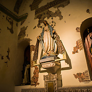 Statues inside the Oratorio San Felipe Neri in the heart of the historic Casco Viejo neighborhood of Panama City, Panama. It is one of the oldest churches in the city and was inaugurated in 1688.