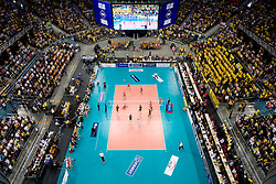 Arena Atlas at  match for 3rd place of CEV Indesit Champions League FINAL FOUR tournament between PGE Skra Belchatow, POL and ACH Volley Bled, SLO on May 2, 2010, at Arena Atlas, Lodz, Poland. Belchatow defeated ACH 3-1. (Photo by Vid Ponikvar / Sportida)