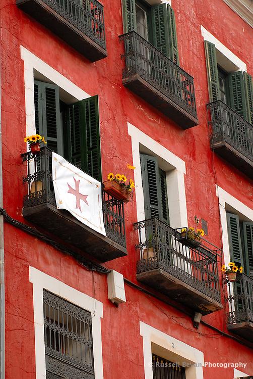 Building in Cuenca Old Town, Spain