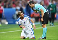 2016.06.20 Saint-Etienne<br /> Pilka nozna Euro 2016<br /> mecz grupy C Slowacja - Anglia<br /> N/z Peter Pekarik<br /> Foto Lukasz Laskowski / PressFocus<br /> <br /> 2016.06.20 Saint-Etienne<br /> Football UEFA Euro 2016 group C game between Slovaki and England<br /> Peter Pekarik<br /> Credit: Lukasz Laskowski / PressFocus