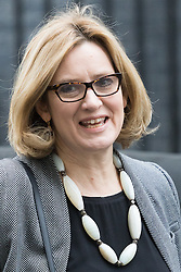Downing Street, London, February 21st 2017. Home Secretary Amber Rudd attends the weekly cabinet meeting at 10 Downing Street in London.