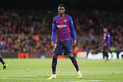 March 9, 2019 - Barcelona, Catalonia, Spain - FC Barcelona forward Ousmane Dembele (11) during the match FC Barcelona v Rayo Vallecano, for the round 27 of La Liga played at Camp Nou  on 9th March 2019 in Barcelona, Spain. (Credit Image: © Mikel Trigueros/NurPhoto via ZUMA Press)