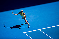 January 19, 2019 - Melbourne, VIC, U.S. - MELBOURNE, AUSTRALIA - JANUARY 19 : Dayana Yastremska of ÊUkraine returns the ball during day 6 of the Australian Open on January 19 2019, at Melbourne Park in Melbourne, Australia.(Photo by Jason Heidrich/Icon Sportswire) (Credit Image: © Jason Heidrich/Icon SMI via ZUMA Press)