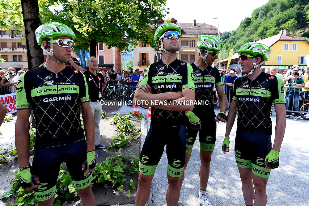 KOREN Kristijan of Team Cannondale - Garmin  - BAUER Jack of Team Cannondale - Garmin  - NAVARDAUSKAS Ramunas of Team Cannondale - Garmin  - MARTIN Daniel of Team Cannondale - Garmin  pictured during stage 1 of the 67th edition of the Criterium du Dauphine Libere from Ugine to Albertville (132 kms)