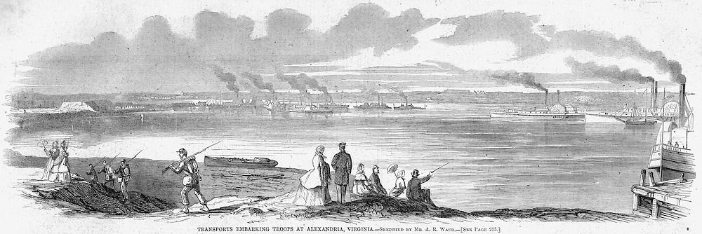 Civil War,   Alexandria Virginia. Harper's Weekley April 19, 1862.