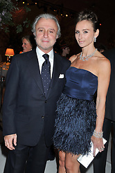 RAFFY & JO MANOUKIAN at a dinner hosted by Cartier following the following the opening of the Chelsea Flower Show 2012 held at Battersea Power Station, London on 21st May 2012.