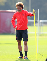 Marouane Fellaini of Manchester United  - Mandatory by-line: Matt McNulty/JMP - 14/09/2016 - FOOTBALL - Manchester United - Training session ahead of Europa League Group A match against Feyenoord