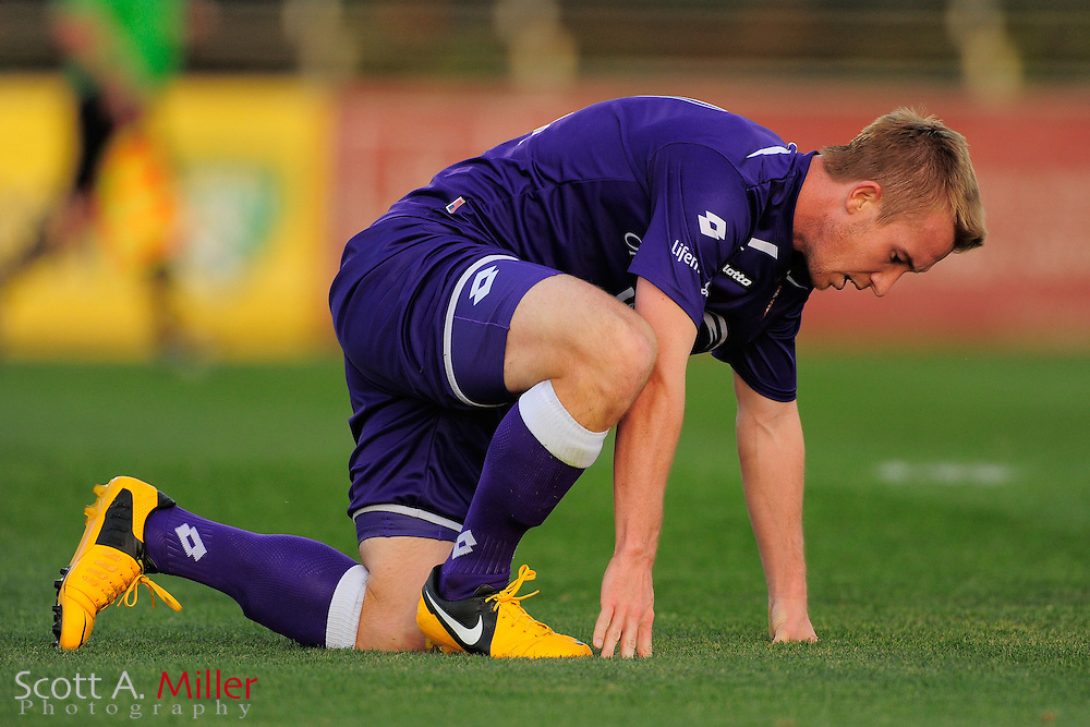 Orlando City Lions forward Jamie Watson (77) during the Lions game against the Stetson Hatters at the Seminole Soccer Complex on Mar 13, 2013  in Sanford, Florida. ..©2013 Scott A. Miller