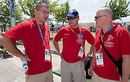 (C) Boguslaw Galazka - Director of Special Olympics Poland & (R) Jacek Brzezinski after cycling competition during 2011 Special Olympics World Summer Games Athens on June 27, 2011..The idea of Special Olympics is that, with appropriate motivation and guidance, each person with intellectual disabilities can train, enjoy and benefit from participation in individual and team competitions...Greece, Athens, June 27, 2011...Picture also available in RAW (NEF) or TIFF format on special request...For editorial use only. Any commercial or promotional use requires permission...Mandatory credit: Photo by © Adam Nurkiewicz / Mediasport
