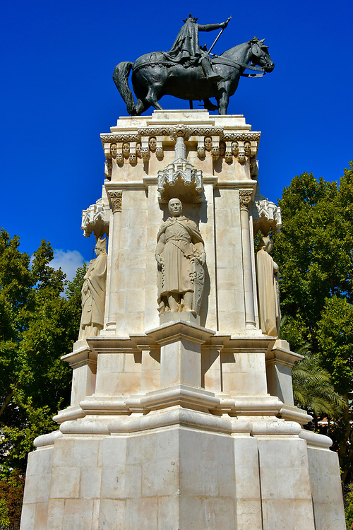 Ferdinand III Monument in Plaza Nueva in Seville, Spain <br />
