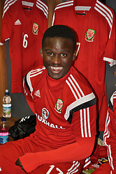 NEWPORT, WALES - Tuesday, September 23, 2014: Wales' Ibi Sosani before the Under-16's International Friendly match against France at Dragon Park. (Pic by Cledwyn Ashford/Propaganda)