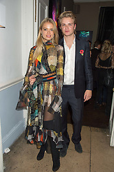 CHARLIE NEWMAN and HENRY FISHER at the Tatler Little Black Book Party at Home House Member's Club, Portman Square, London supported by CARAT on 11th November 2015.