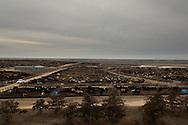 Beef cattle, feedlot, Ingalis, Kansas