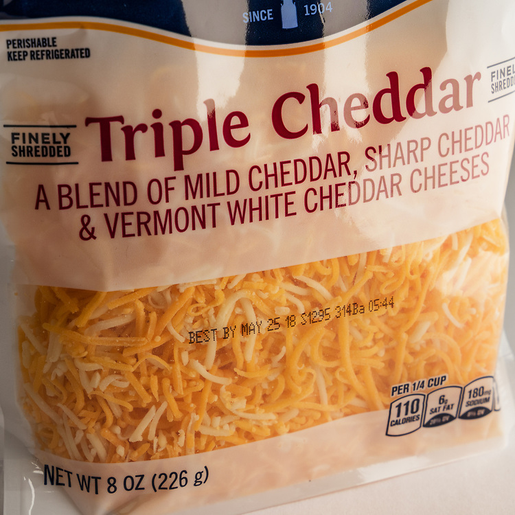Bag of Triple Cheddar Cheese