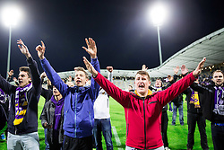 Fans of Maribor after the football match between NK Maribor and ND Triglav in 34th Round of Prva liga Telekom Slovenije 2013/14, on May 13, 2014 in Stadium Ljudski vrt, Maribor, Slovenia. NK Maribor became Slovenian National Champion 2014. Photo by Vid Ponikvar / Sportida