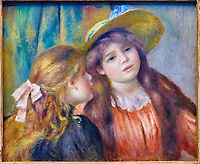 France, Paris (75), zone classée Patrimoine Mondial de l'UNESCO, les Tuileries, le musée de l'Orangerie, tableaux de Pierre-Auguste Renoir, portrait de deux fillettes // France, Paris, les Tuileries, museum of Orangerie, Pierre-August Renoir painting, portrait de deux fillettes