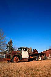 CANADA ALBERTA FORT CHIPEWYAN 11MAY07 - Discarded rusty old truck at Fort Chipewyan, northern Alberta, Canada...jre/Photo by Jiri Rezac / WWF-UK..© Jiri Rezac 2007..Contact: +44 (0) 7050 110 417.Mobile: +44 (0) 7801 337 683.Office: +44 (0) 20 8968 9635..Email: jiri@jirirezac.com.Web: www.jirirezac.com..© All images Jiri Rezac 2007 - All rights reserved.
